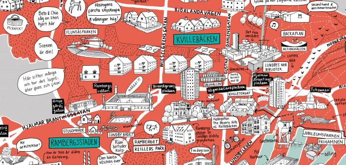 Gothenburgo Satter Lundby Pa Kartan