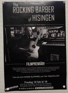Filmaffisch - The rocking barber of Hisingen